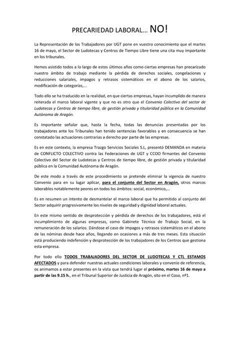 LUDOTECAS Y CTLS PRECARIEDAD LABORAL… NO!
