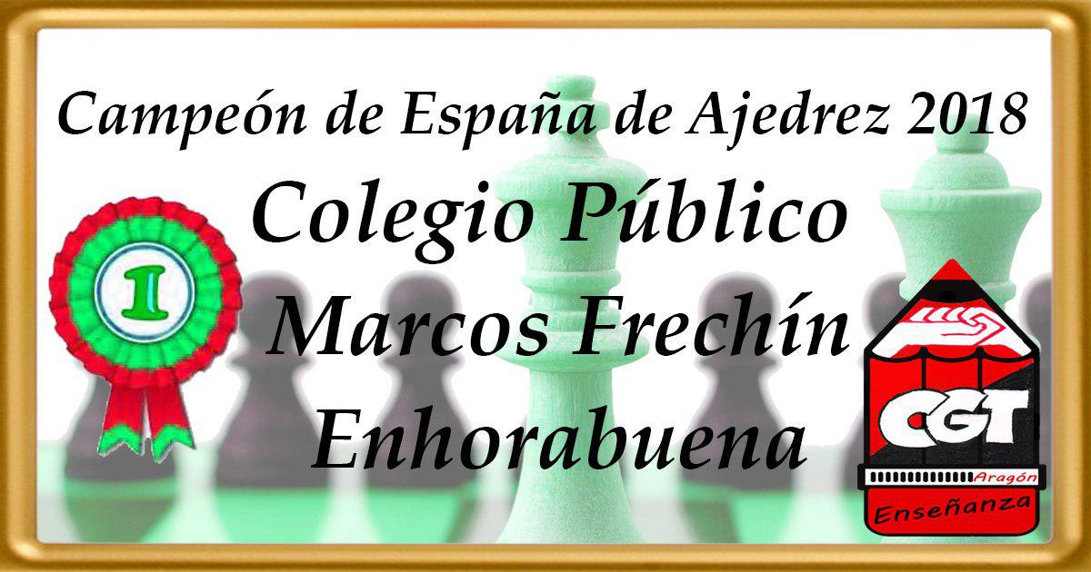 Enhorabuena al Colegio Público Marcos Frechín