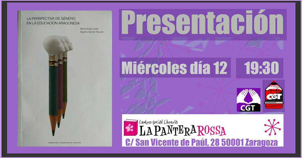 Presentación del libro «Perspectiva de género en la educación aragonesa»