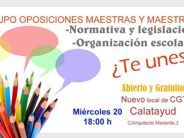 Calatayud: grupo de oposiciones de maestros y maestras
