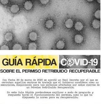 Guía rápida sobre el COVID-19 y el permiso retribuido recuperable