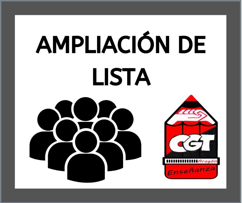 Ampliación de lista de Lengua y Literatura