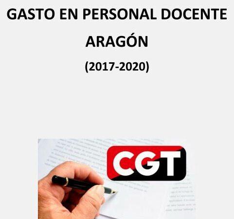 Desvelando números: Informe sobre el gasto en personal docente en Aragón (2017-2020)
