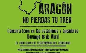 Concentración por la defensa de la red ferroviaria @ Apeadero Av. Goya, Zaragoza