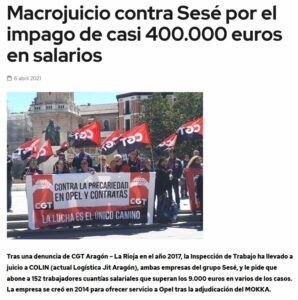 Concentración en apoyo a las trabajadoras y trabajadores del grupo Sesé @ Ciudad de la Justicia, Edificios Fueros de Aragón