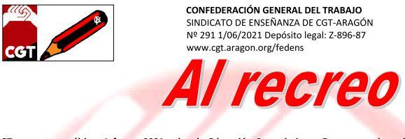 Al recreo, núm. 291: Informe sobre la Educación Secundaria en Zaragoza