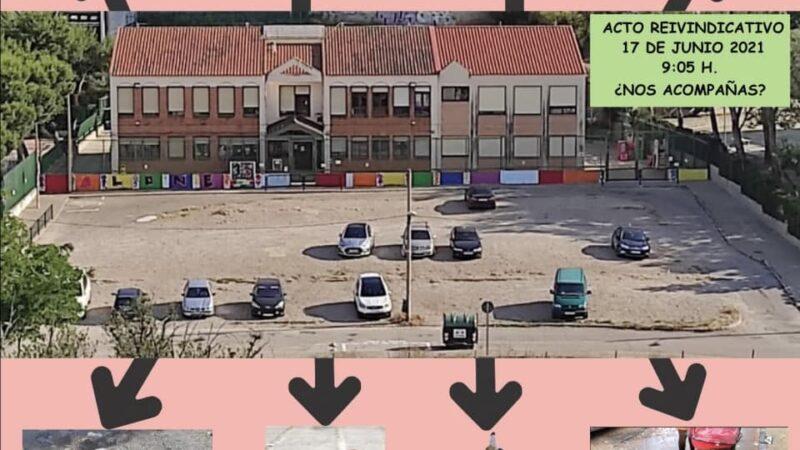 Concentración por el acondicionamiento del CEIP Camón Aznar