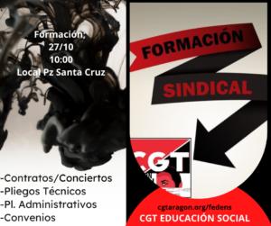 Curso Formación sindical convenios y pliegos @ Local de CGT Plz Santa Cruz