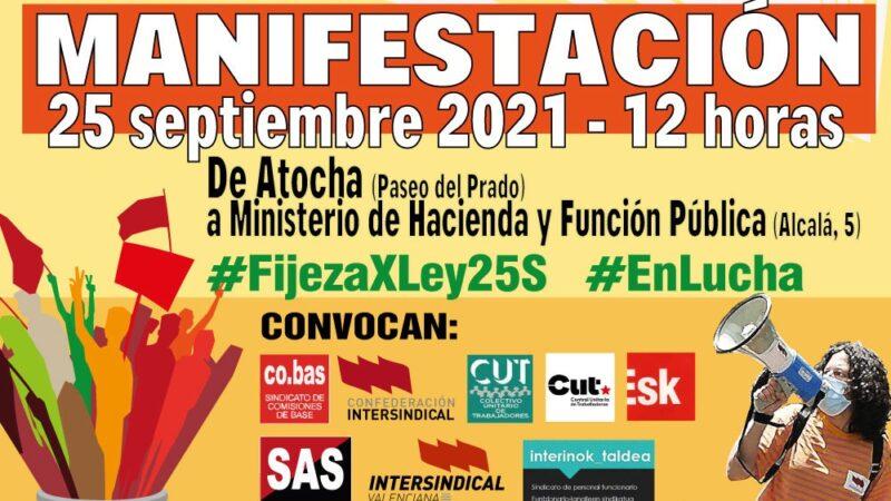 Manifestación en Madrid contra el fraude de ley del colectivo interino