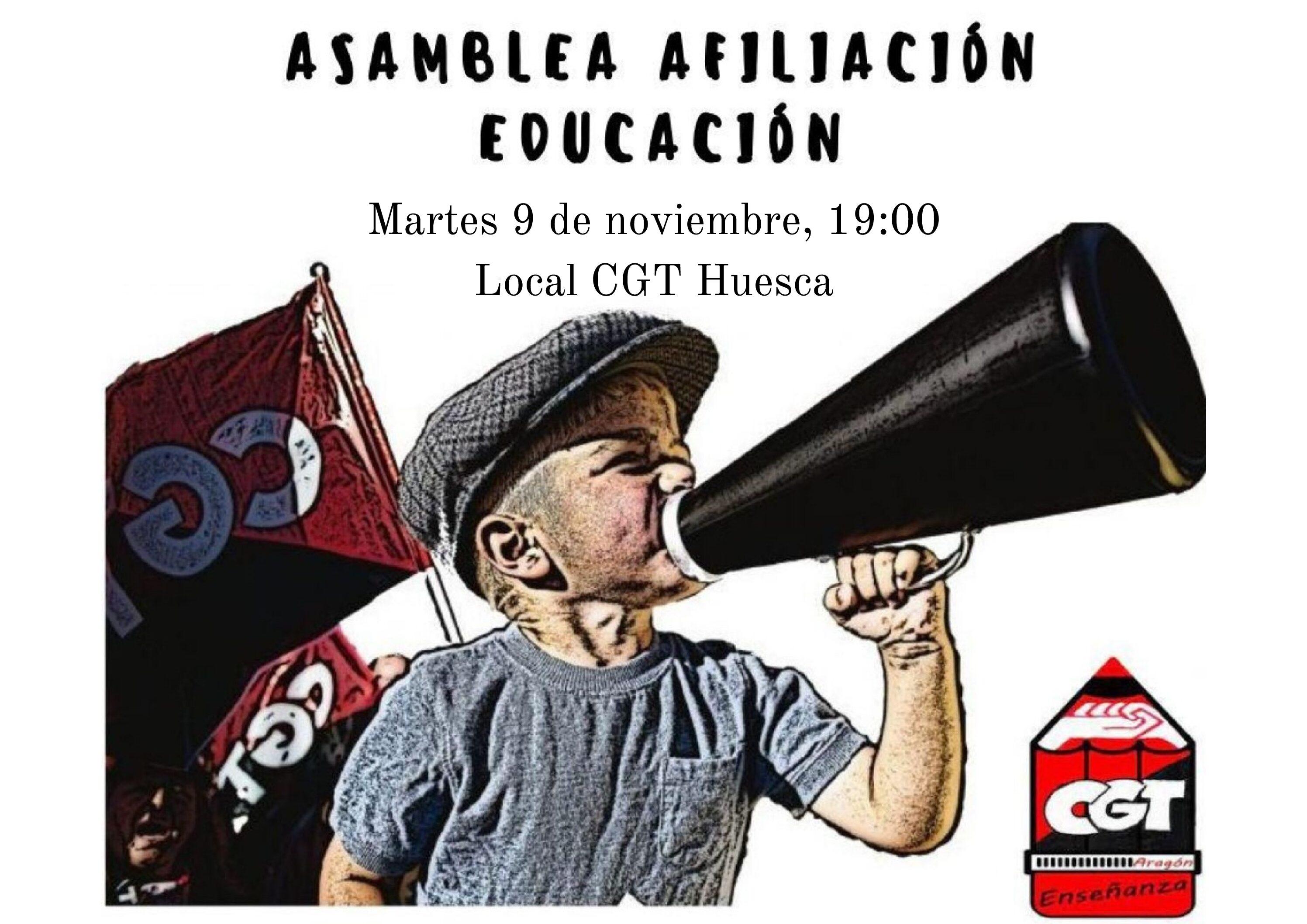 Asamblea Educación Huesca 9 de noviembre.
