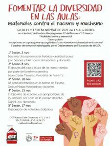 Curso Antifascimo y antipatriarcado en las aulas @ Instituto de Estudios Altoragoneses de Huesca
