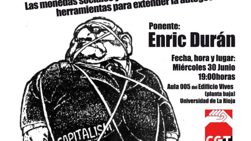 Conferencia de Enric Durán en Logroño «Podemos Vivir Sin Capitalismo»