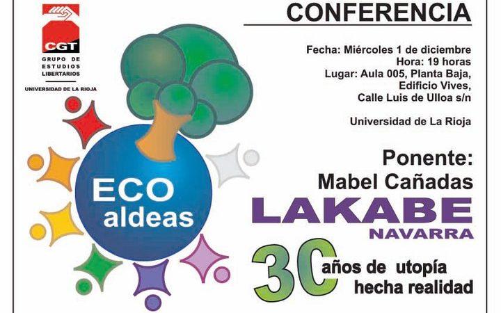 [Logroño]1/12/2010 Conferencia: Lakabe, 30 años de Utopía hecha Realidad