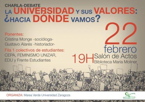 La Universidad y sus valores. ¿Hacia dónde vamos?