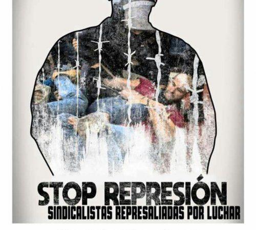 Concentración en Teruel contra la represión sindical