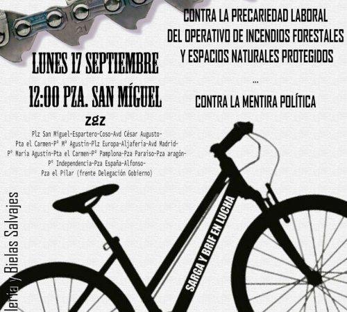 CGT Sarga convoca una bicifestación