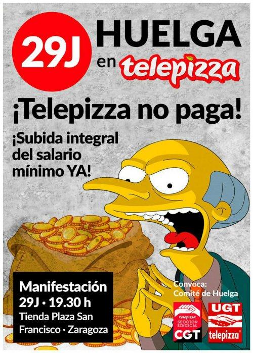 Huelga en Telepizza (QSR)