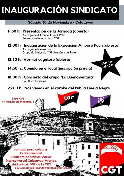 Inauguramos sindicato en Calatayud-Aranda