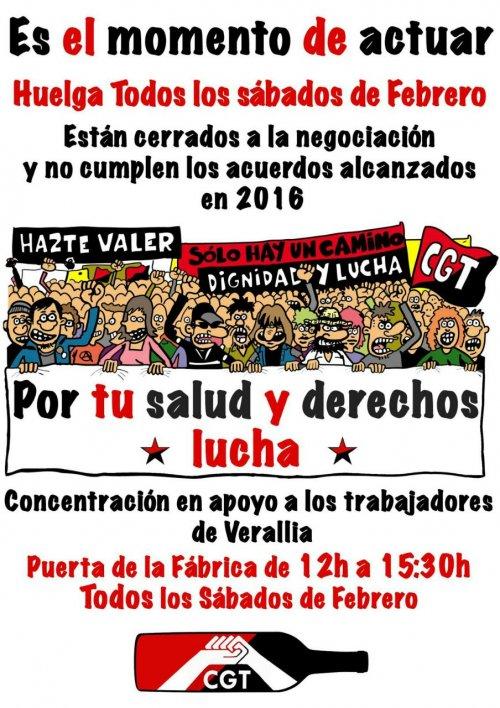 Apoyo en la segunda jornada de huelga de Verallia