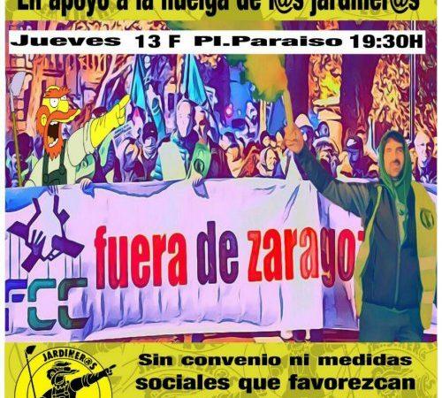 Manifestación en apoyo a los trabajador@s Parques y Jardines