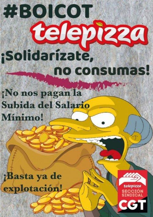 CGT desmiente las acusaciones de Telepizza y sigue con la hulega