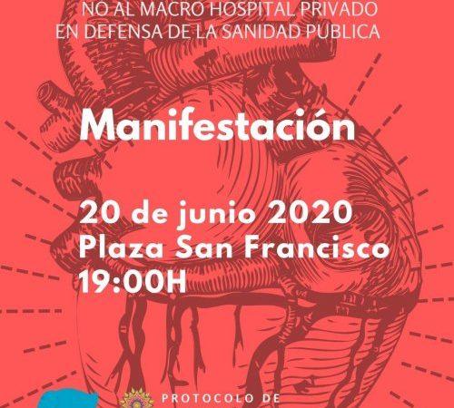 Manifestación contra el megahospital privado de Zaragoza