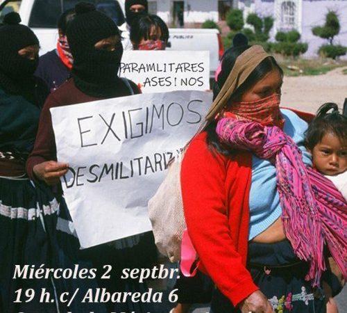 Concentración contra las agresiones a las comunidades zapatistas