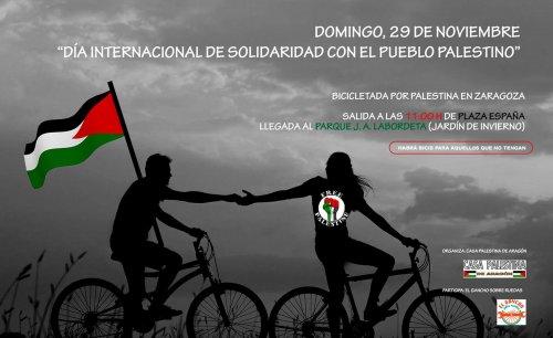 Bicicletada en solidaridad con el pueblo palestino