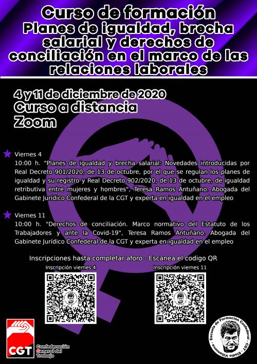 Curso «Planes de Igualdad, brecha salarial y derechos de conciliación en el marco de las relaciones laborales»