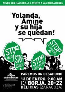 PAREMOS UN DESHAUCIO - Yolanda, Amine y su hija se quedan! @ Calle Borja 20-22 (Delicias)