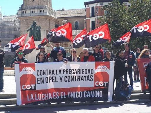 CGT se concentra en el SAMA contra la precariedad laboral en OPEL/PSA