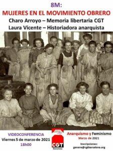 Charla 8M Mujeres en el moviento obrero
