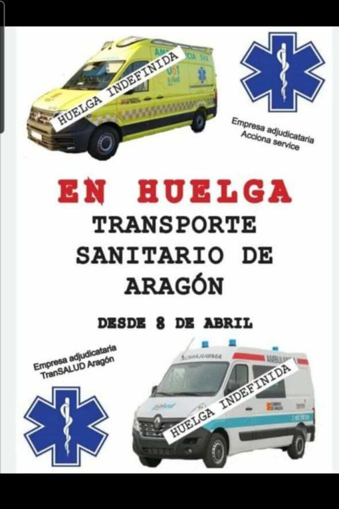 Huelga indefinida en el transporte sanitario de Aragón
