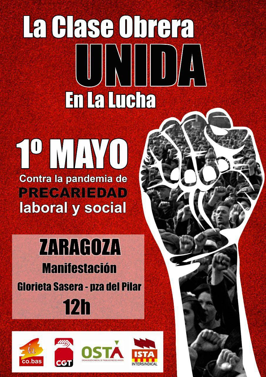 1º de Mayo; contra la precariedad laboral y social.