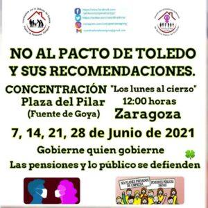 Los lunes al cierzo - No al Pacto de Toledo @ Fuente de Goya