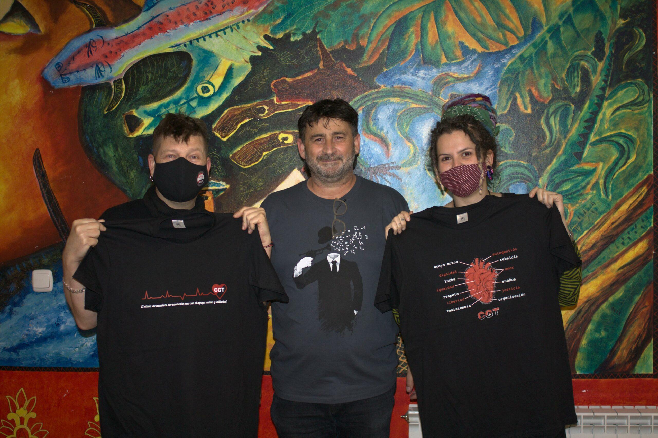 Éstas son las ganadoras del concurso de camisetas de CGT Aragón – La Rioja