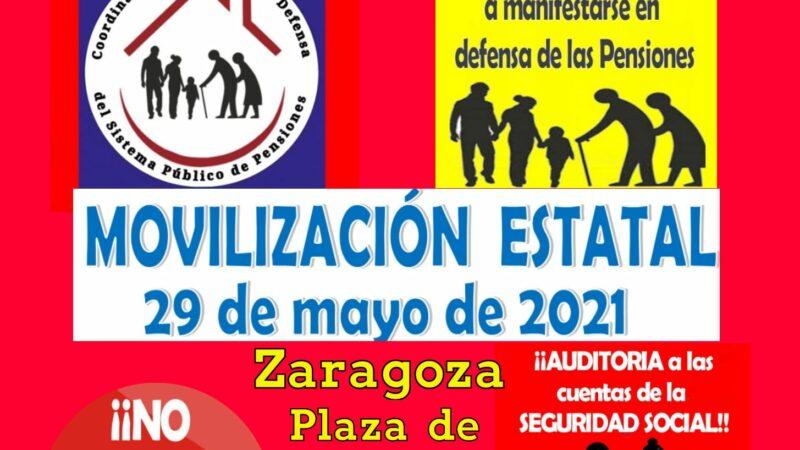Movilización estatal contra el recorte de las pensiones