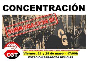 Concentración LogiRAIL - Estación Delicias @ Estación Zaragoza Delicias