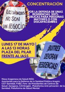 Concentración Residencias 100% Públicas @ Instituto Aragonés de Servicios Sociales (IASS)