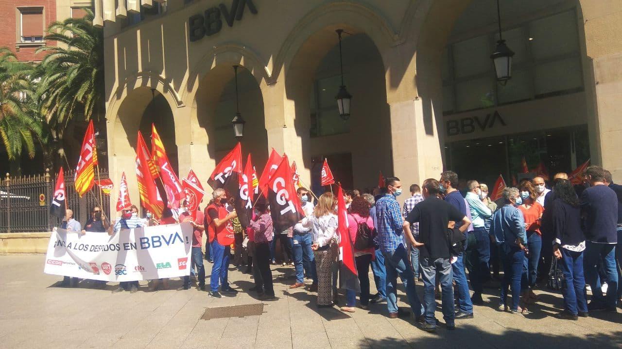 Éxito en la segunda jornada de huelga en BBVA