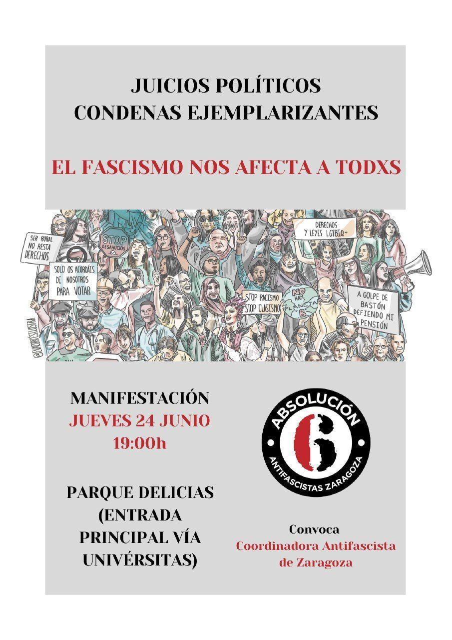 Manifestación Absolución 6 de Zaragoza