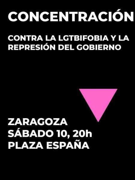 Concentración contra la LGTBIfobia y la represión del gobierno