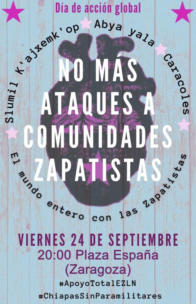 ¡Urgente! Día de acción global: «Chiapas al borde de la guerra civil»