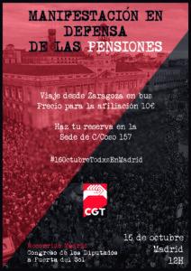 Manifestación en defensa de las Pensiones @ Madrid