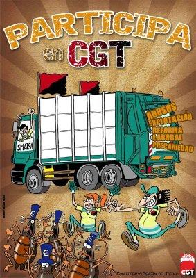 CGT se persona en el TACPA en defensa de l@s trabajador@s de Limpieza y Recogida