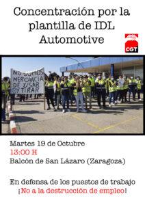 Concentración por la plantilla de IDL Automotive @ Balcón de San Lázaro (Zaragoza)