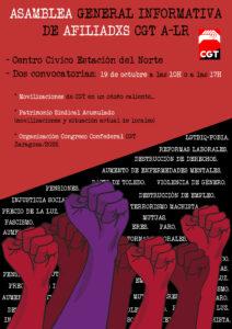 Asamblea General Informativa Afiliadxs CGT A-LR @ Centro Cívico Estación del Norte