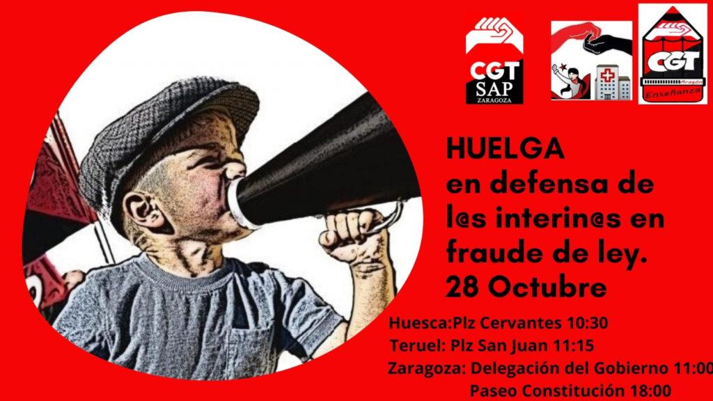Enseñanza, Sanidad y Administración Pública llaman a la huelga este 28-O